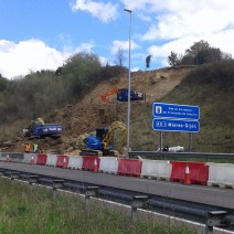 restitución talud de desmonte autovía minera