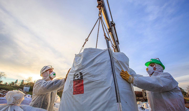 manipulación de amianto riesgos para la salud