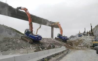 demolición puente arteixo