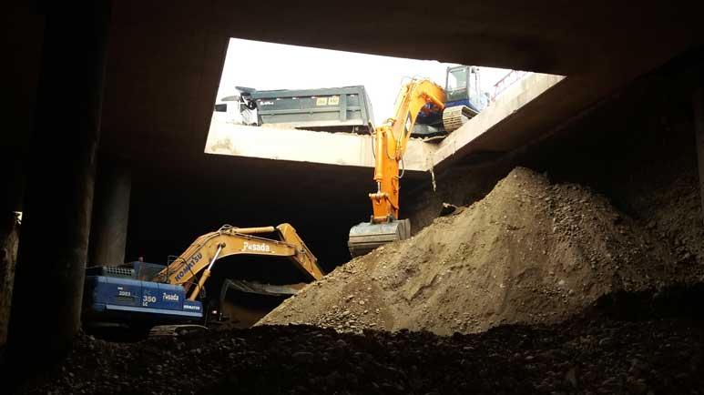 excavación linea 2 metro de lima Peru