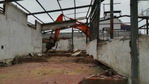 demolicion edificio muebles Campa Lugones Asturias
