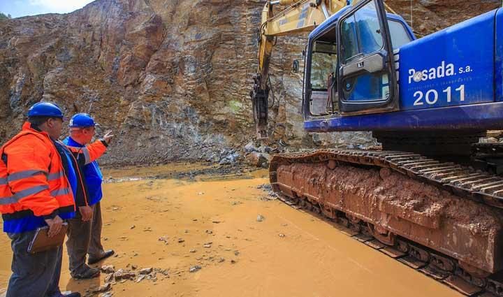 alquiler maquinaria operada minería