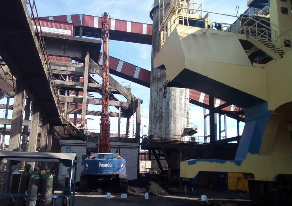 demolición parcial batería coque Arcelor