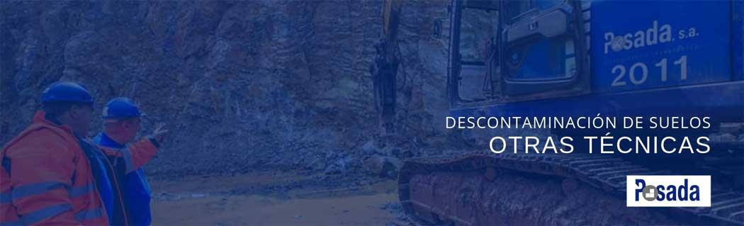 descontaminacion de suelos otras técnicas