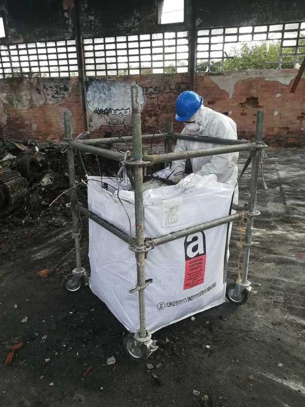 descontaminación amianto