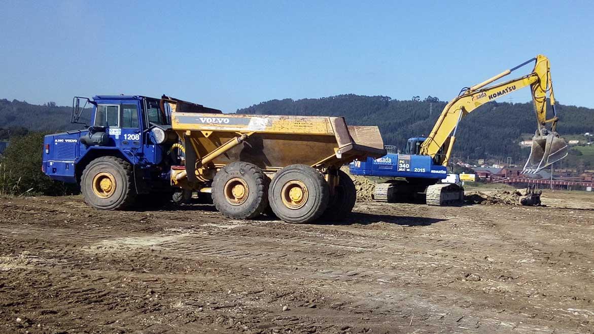 excavaciones y movimiento de tierras obras acceso Puerto del Musel Gijón