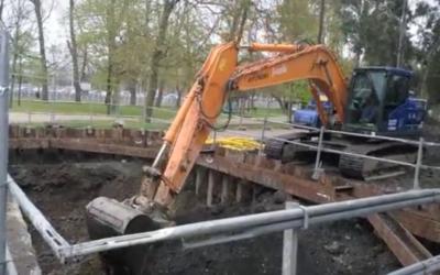 excavacion pozo de tormentas en Gijón