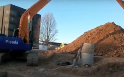 excavadora de brazo largo para excavación profunda