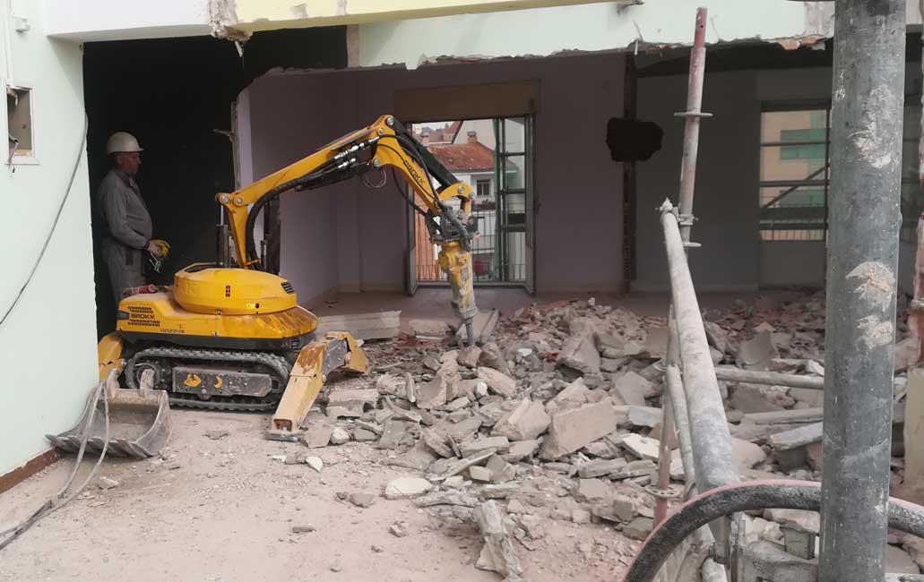 demolicion edificio en Zamora