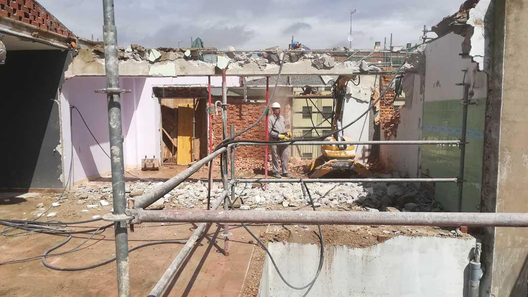 demolicion edificio zamora