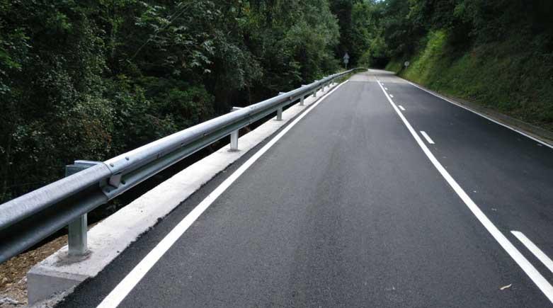 reparacion hundimiento carretera Tineo
