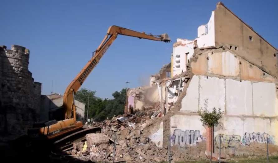 demolicion edificio muralla Zamora